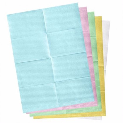 Dental Bibs (2 ply tissue +1 ply poly) 100's