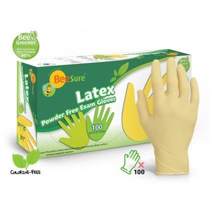 BeeSure Latex Powder Free Examination Gloves 100's
