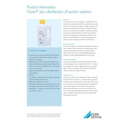 Dürr Dental Orotol Plus Suction Disinfectants - 2.5L