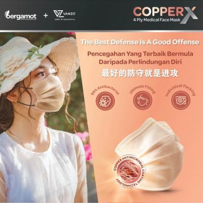 Bergamot Copper X 4-ply Face Masks 30's